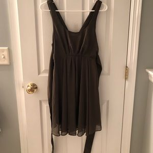 Double Strap Olive Summer Dress
